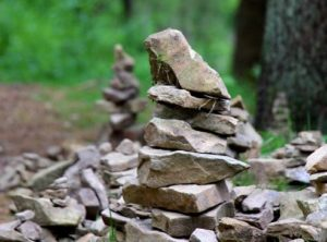 Cairns are often built in special places like a mountain top to mark a journey