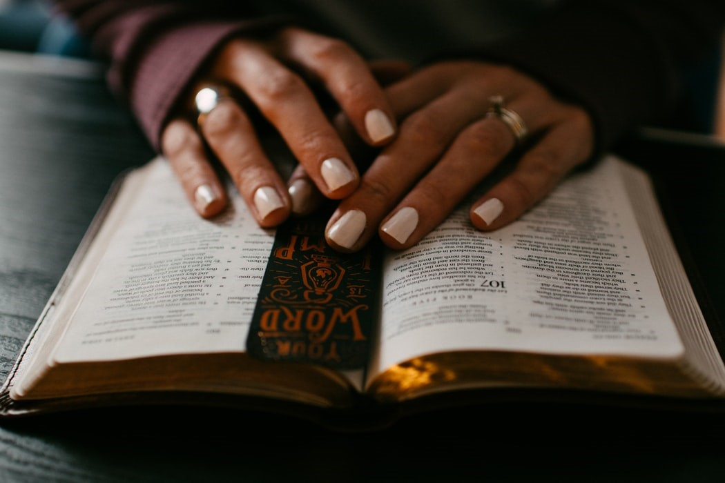 bible with bookmark