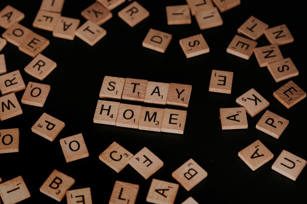 Scrabble Tiles stay home