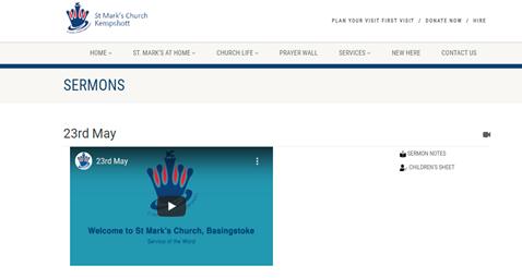 Website sermon page