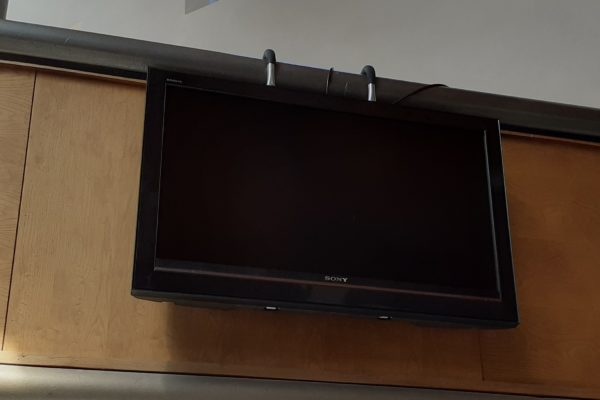 TV screen for service leaders