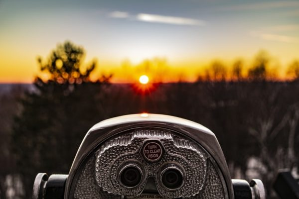 View finder at sunset