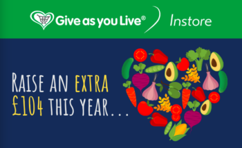 Give as you live instore cards