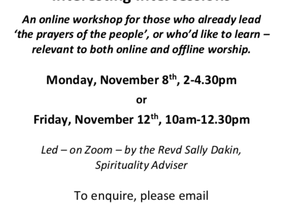 Flyer for Intercessions